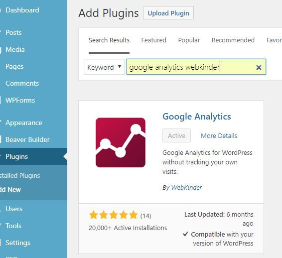 Image showing how to search for a WordPress plugin